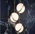Современный светодиодный подвесной светильник, дизайнерская люстра, освещение, столовая, спальня, гостиная, прикроватный стеклянный шар, п...