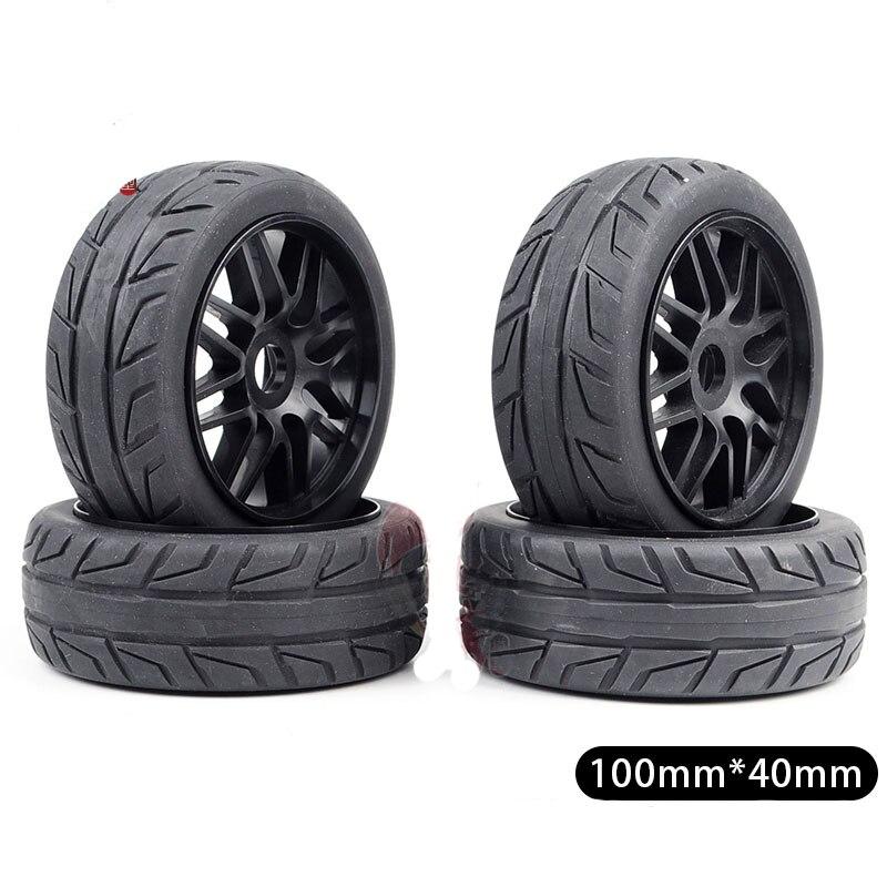 4 STUKS Tire 100mm x 40mm Tyre Wheel voor RC 1/8 Auto Model 1:8 Buggy Op  roard Crawer Auto DIY Onderdelen-in Onderdelen & accessoires van Speelgoed & Hobbies op  Groep 1