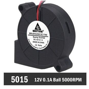 50 PCS Gdstime 5015 Kugellager 2Pin 12 V Fan Gebläse Computer Kühler Kreisel Lüfter 50mm x 15mm