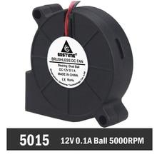все цены на 50PCS Gdstime 5015 Ball Bearing 2Pin 12V Fan Blower Computer Cooler Centrifugal Cooling Fan 50mm x 15mm онлайн