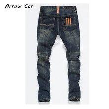 ФОТО mens ripped jeans pants slim straight distressed hip hop denim pants 2018 new fashion men stretch jeans pants plus size 38 40