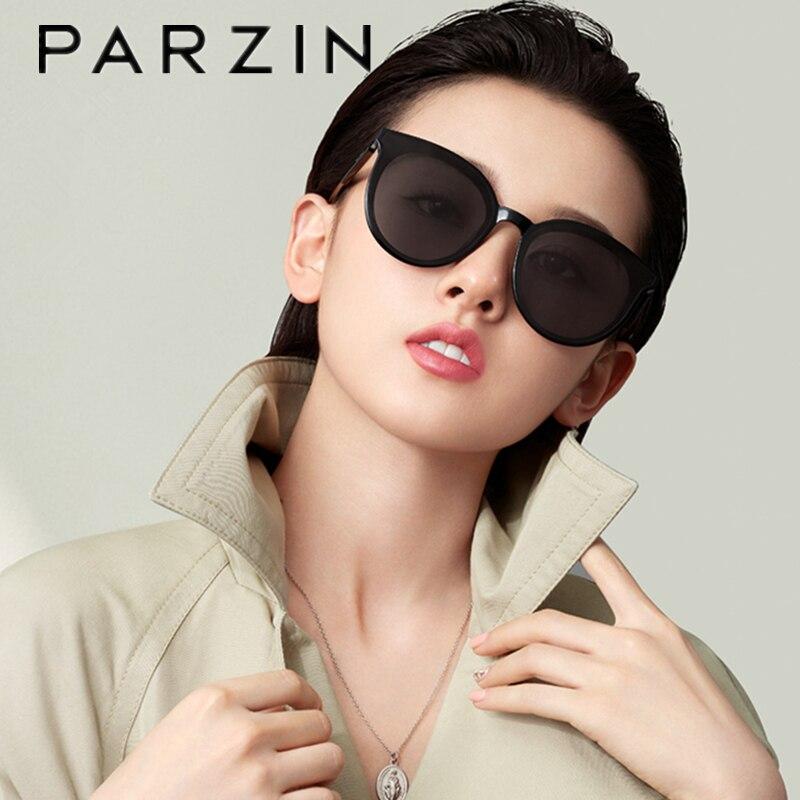 PARZIN New Sunglasses Women Brand Designer  Vintage Sun Glasses Female Retro Oversized Ladies Shades For Women Men UV 400 91618