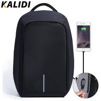 KALIDI Anti Theft Waterproof Laptop Backpack Men External USB Charge Notebook Backpack For Women 15 6