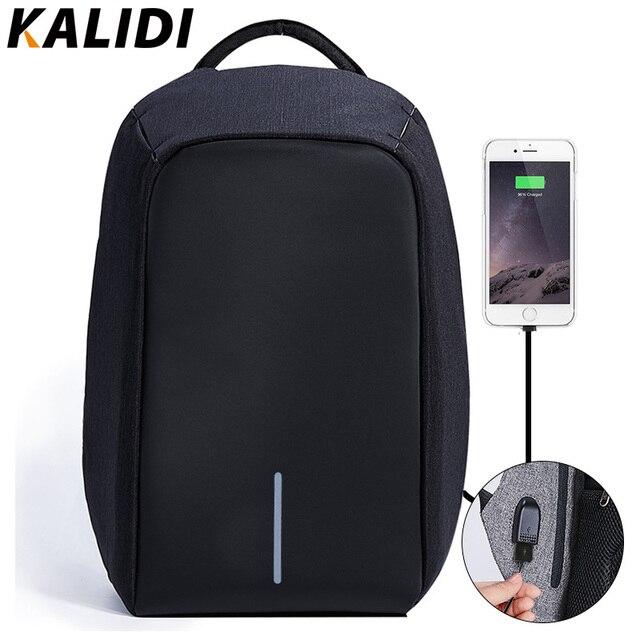 KALIDI 15.6 pulgadas antirrobo Mochila Portátil A Prueba de agua con CABLE de Carga USB Portátil de Viaje Mochila Escolar Mochila para Adolescentes
