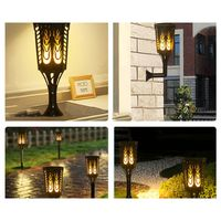 3 In 1 Solar Lights LED Decorative Columns Lantern Pole Table Wall Ground Lamp Lighting Pathway Garden Landscape Yard