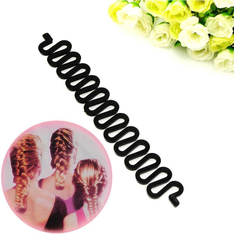 19 см черные женские плетеные аксессуары для волос ручки инструменты для стиля Уход за волосами бигуди для волос для женщин инструмент для плетения