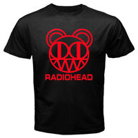 New Radiohead Rock Band Red Logo Men S Black T Shirt Size S To 3XL