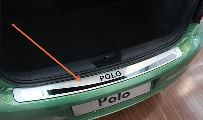 1 шт. для 2011- Volkswagen VW POLO Хэтчбек из нержавеющей стали задняя Накладка на порог багажника Защитная педаль