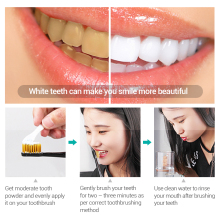 BAIMISS Fresh Dazzle Bright Tooth Powder Teeth Whitening Oral Hygiene Cleaning Teeth Plaque Tartar Removal Stains Gentle 50g