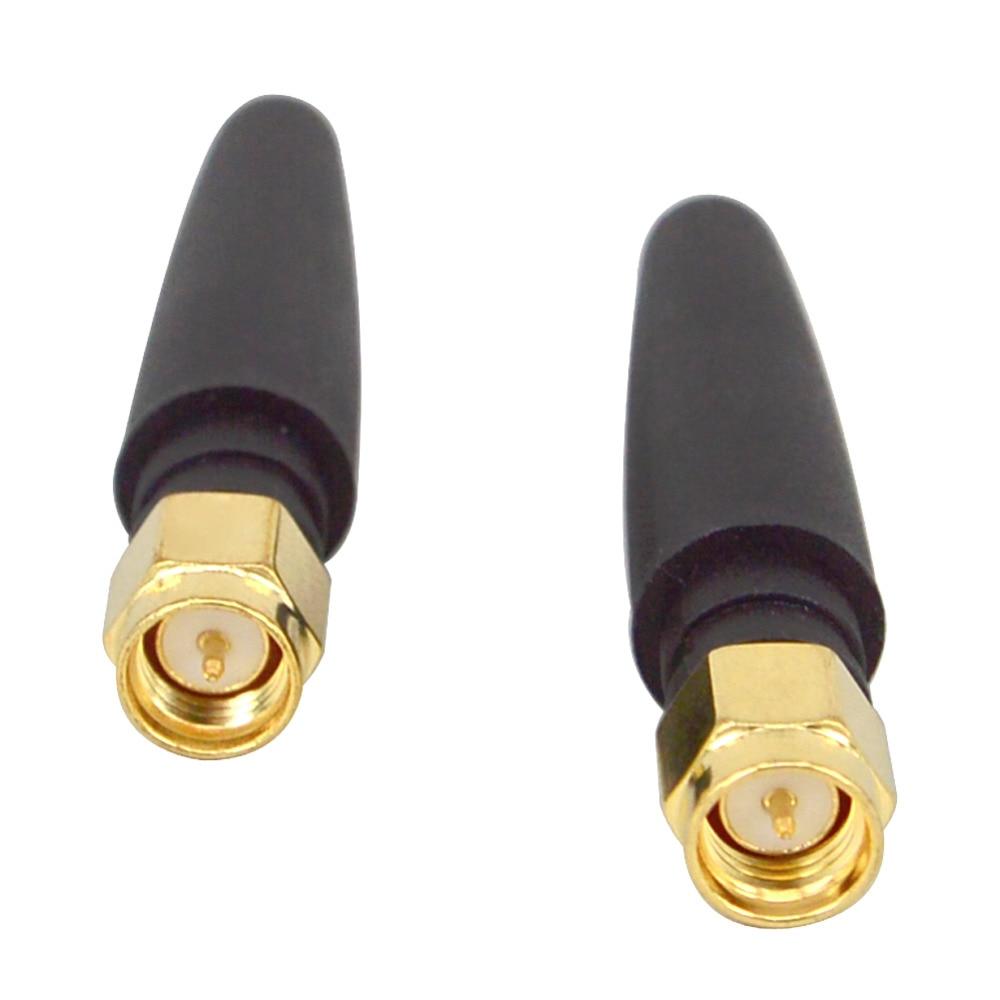 2pcs WiFi Antenna 2.4 GHz 2dBi 802.11b/g Aerial SMA Male Wireless Router