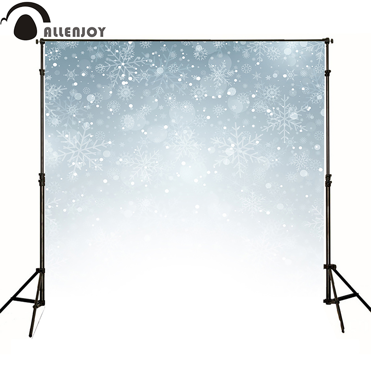 Allen joy christmas photography backdrops abstract bokeh blur xmas snowflake silver newborn baby shower sale home party