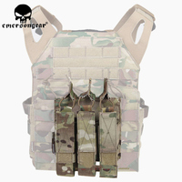 Emerson Airsoft Hunting Tactical Modular MOLLE Triple Open Top SMG Mag Pouch EmersonGear Magazine Carrier For MP5 / MP7 / KRISS