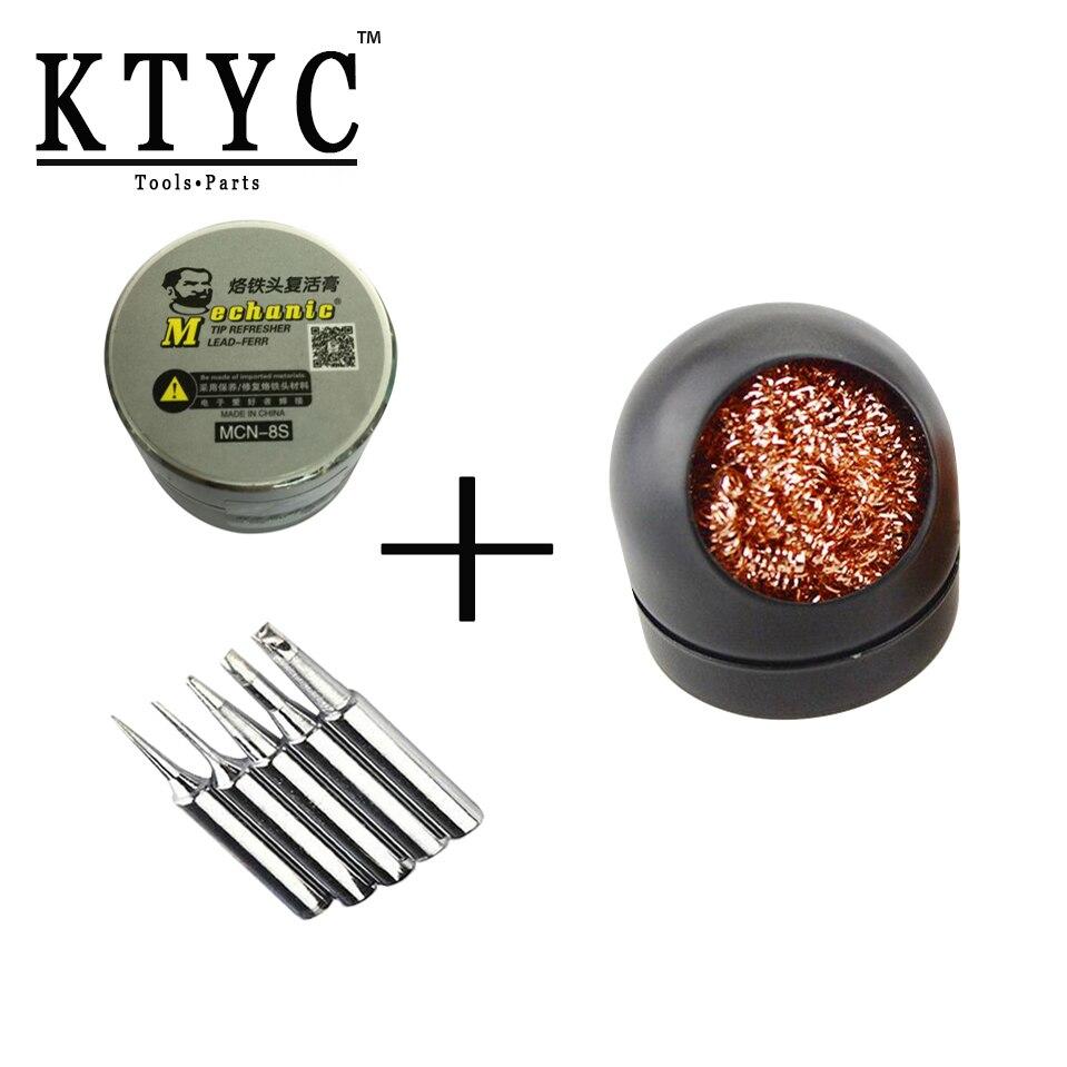 купить KTYC 5pcs/lot Solder Iron Tip 50g Soldering Tip Refresher Paste MCH-8S Tips Cleaner Repair Tool Kit недорого