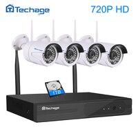 Plug And Play 4CH NVR Wireless WIFI CCTV System P2P 4pcs 720P 960P 1080P IP Camera