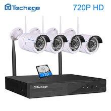 Techage 4CH 1080 P NVR Inalámbrica Wifi Sistema de CCTV 1MP/1.3MP/2MP Cámara IP Wi-fi de Video Al Aire Libre seguridad DIY Kit P2P Plug & Play
