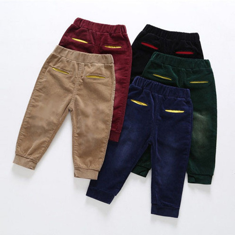 Autumn Winter Kids Boy Solid Pants Skinny Trousers Pencil Long Pants Bottoms Children Clothes Leggings for boys