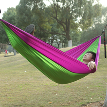 Outdoor Fishing Sports Camping Hammock Rest Chair Summer Riding 260*140cm Bearing Weight 300kg  Tools