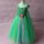 2017 Más Nuevo de la Muchacha Verde Tutu Vestido de Princesa Vestidos de Flores de Navidad Traje de Los Niños