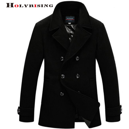 Mens Cashmere Coat Winter...