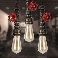 E27 220v Rustic Industrial Pendant Lights Vintage Lamp Water Pipe Hanging Light Loft Lamp For Home