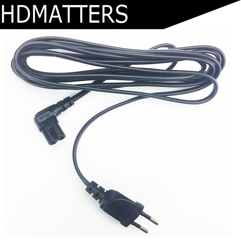Angled 5M Europe EU Power Cable Cord EU 2-pin AC Plug To Angled Figure 8 C7 Plug 3M 1.5M For PS4,TV,DVD Etc.
