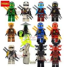 12 lot/set Legoes Ninjagoes Villans Decool Minifigures Blocks KAI JAY COLE ZANE Lloyd Deepstone armor Ghost Ninja Tournament