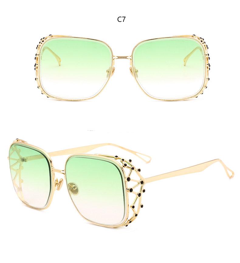 HTB1cUjKkfBNTKJjy0Fdq6APpVXaR - Steampunk Square Luxury Designer Rhinestone Sunglasses
