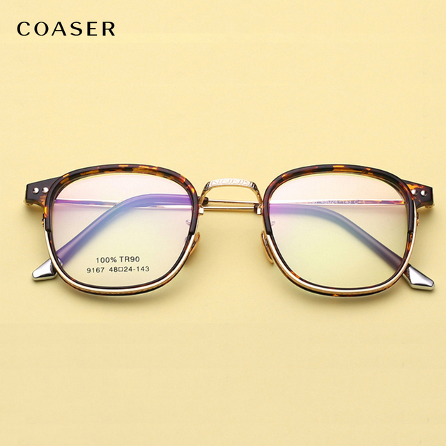 COASER TR90 Hipster Óculos de Armação de Metal Do Vintage Redonda Super  Leve Terno Das Mulheres a2b9214390