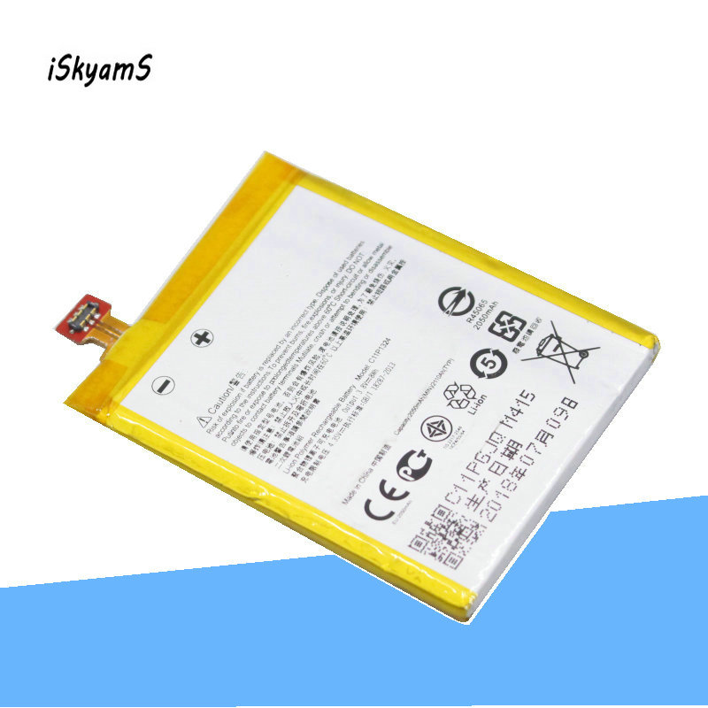 iSkyams 1x 2050mAh C11P1324 Replacement Phone Battery For ASUS Zenfone 5  T00F T00J A501CG A500CG