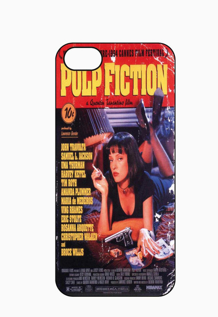 PULP FICTION MOVIE POSTER Case for Iphone 4 4S 5 5S 5C 6 6S Plus Samsung Galaxy S3 S4 S5 Mini S6 Edge A3 A5 A7 Note 2 3 4 5