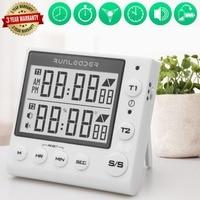 Digital Kitchen Timer, Loud Alarm Timer, Cooking Timer, Kitchen Timer, Large LED Display, Memory Flash Alarm Lab Learning Contes