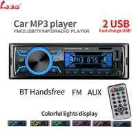 LaBo Auto Radio Stereo-Player Bluetooth Telefon AUX-IN MP3 FM/USB/1 Din/fernbedienung 12 V auto Audio Auto 2019 Verkauf Neue