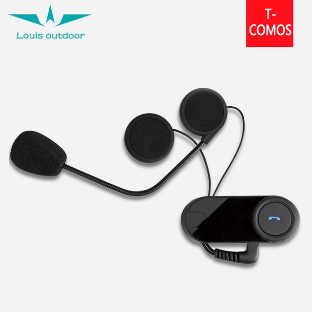 1pc/Lot BT Motorcycle Helmet Intercom FDC Bluetooth Interphone Headset TOM-OS