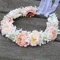 High Quality Handmade Bridal Crystal Hair Flower Crown Wedding Headwear Woman Girls Party Prom Flower Garland Tiara