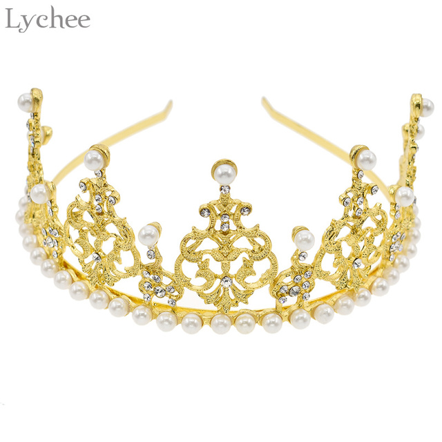 Aliexpress.com : Buy Lychee Crystal Diamonds Pearl Crown Cake ...