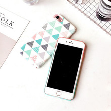 Fashion Triangle Gradient Color Phone Case iPhone 6 6 S Plus 7 7 Plus 8 X