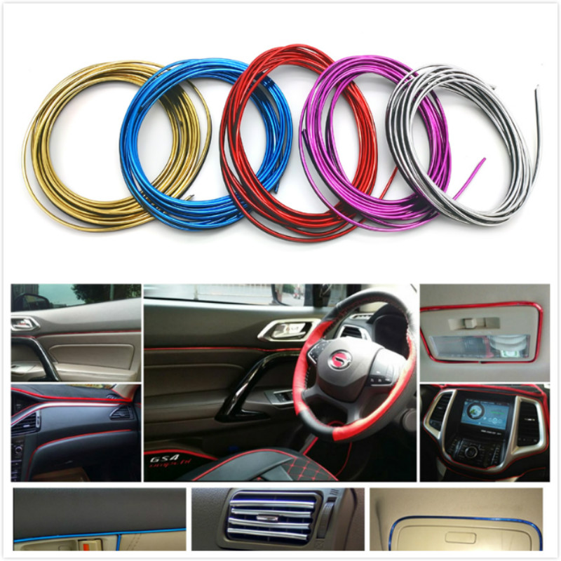 Car Styling Interior Decoration Strips For Mitsubishi ASX Lancer 10 9 Outlander Pajero For Suzuki Swift Grand Vitara SX4 Vitara
