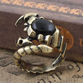 AVP Gothic Punk Scorpion Retro Copper Ring Stylish Unisex Scorpio Open Finger Ring Jewelry Gift
