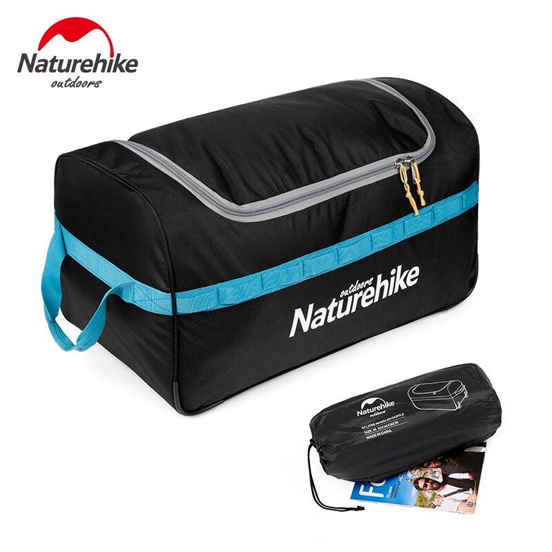 Spor ve Eğlence'ten Tırmanma Çantaları'de Naturehike 85L 110L Katlanabilir Tekerlekli Seyahat Bagaj Bavul saklama çantası Turizm Su Geçirmez Katlanabilir Haddeleme Bagaj Çantaları title=