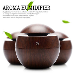 Mini wooden aromatherapy humidifier aroma diffuser air purifier color changing led ultrasonic mist maker humidifiers.jpg 250x250