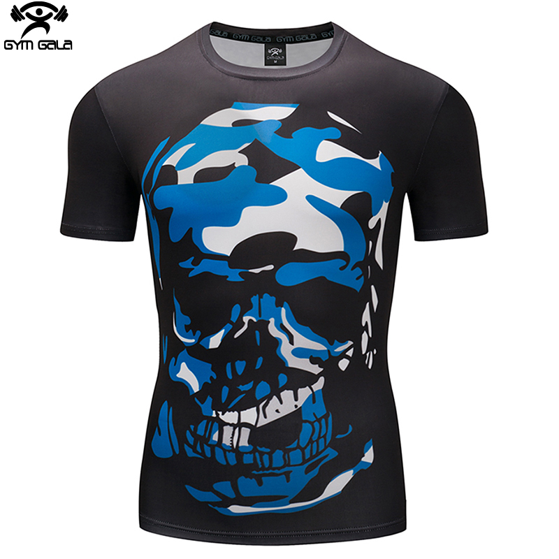 3D Printed T shirts Men Compression Shirt 2018 Cosplay Short Sleeve Crossfit Tops For Male