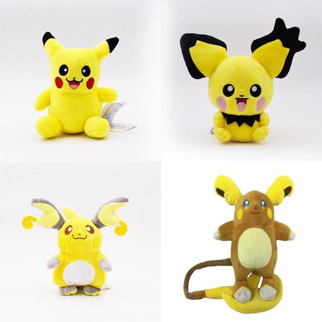 4 estilos Animais de Pelúcia Boneca Peluche Alola Região Raichu Pichu Pikachu Macio Stuffed Toy Hot Grande Presente De Natal Para Crianças