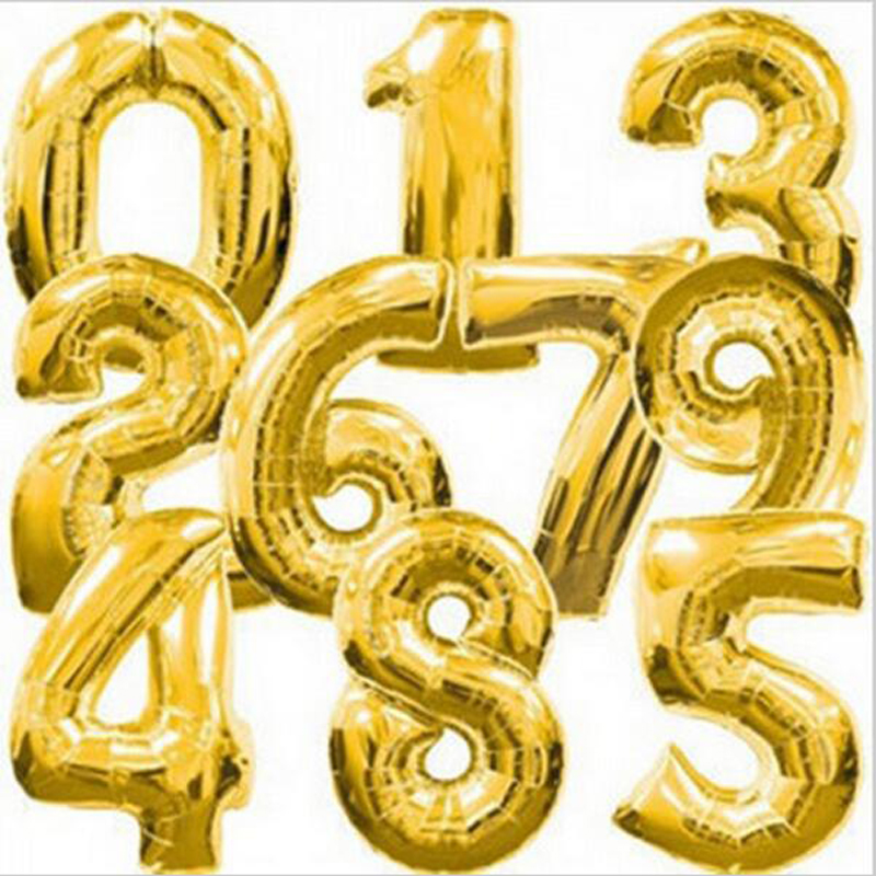 40 Inch Number Balloon Foil Balloons Kids Birthday Party Supplies Helium Balloon font b Baby b