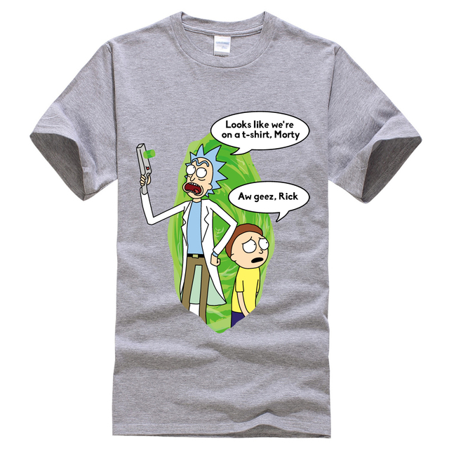 b5f6bf39f273 Funny T Shirt Men Rick And Morty 2019 Spring Summer Harajuku Tops Print  Looks Like We're On A T-shirt Fashion Tee New T-shirts