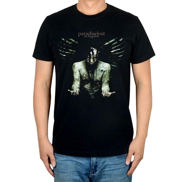 14 видов иллюстрации Райский Lost Rock брендовая футболка панк готический Металл черные рубашки уличная Harajuku искусство картины camiseta - Цвет: 8