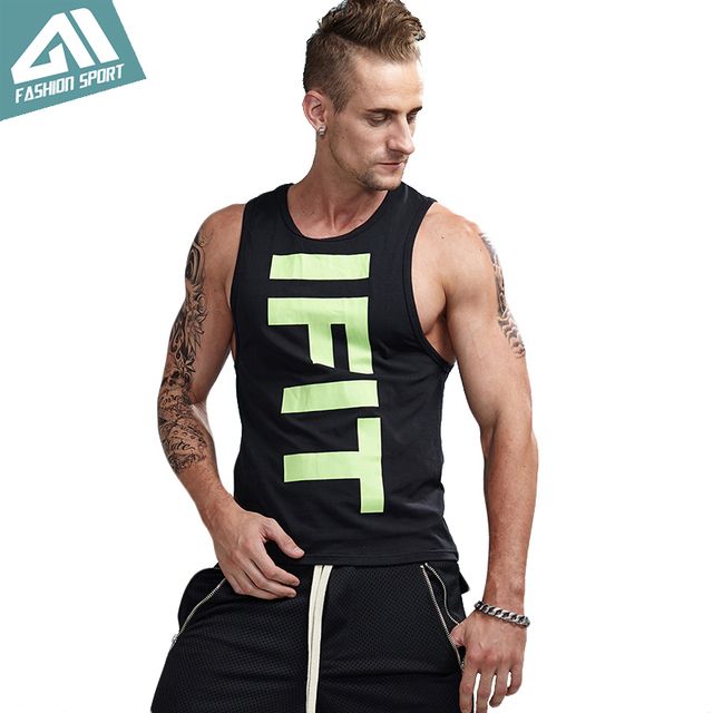 c145d62980574 Aimpact Bodybuilding Men s Tank Tops Cotton Slim Fitted Sport Running Vest  Male Gym Crossfit Workout Tee Athletic Singlet AM1021