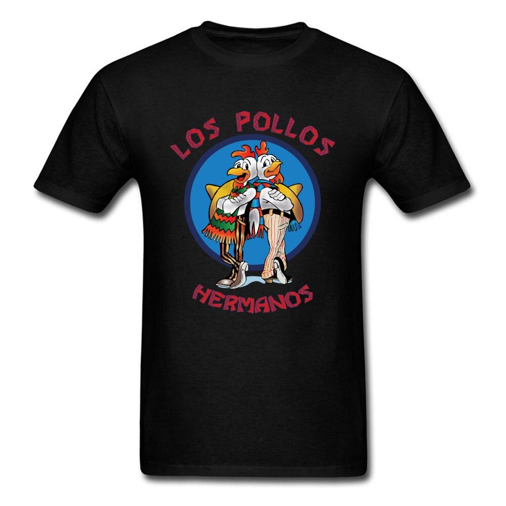Мужская футболка Los Pollos Hermanos, модная футболка с надписью «Breaking Bad», хипстерские топы, хлопковая одежда