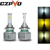CZPVQ Canbus H4 H7 LED 3000K 4300K 6000K H1 H3 H8 H9 H11 9005 HB3 9006 HB4 880 881 H27 Car Headlight CSP 80W 8000LM Fog Lamp