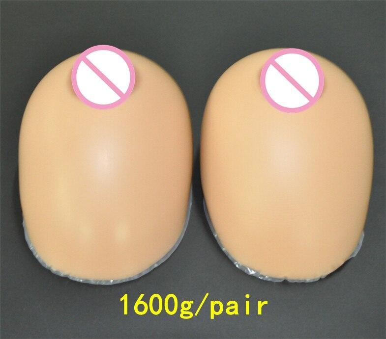 Crossdresser Silicone Breast Forms 1600g/pair Brown Fake Boobs Prosthesis Teardrop Artificial Breast 1600g pair d cup fake boobs pads breast forms silicone fillers prosthesis silicone tights insert pads artificial boobs enhancer