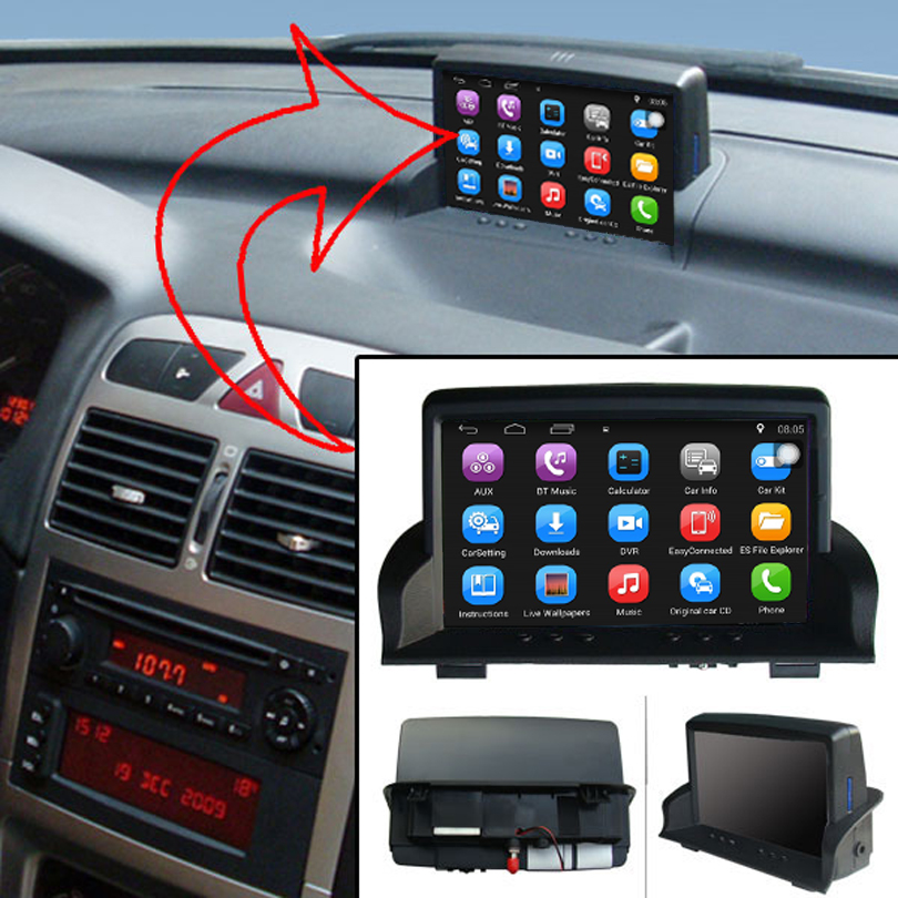 Թարմացված բնօրինակ մեքենայի մուլտիմեդիա նվագարկիչ Car GPS նավիգացիայի կոստյումը դեպի Peugeot 307 Աջակցություն WiFi սմարթֆոնի հայելի-հղում Bluetooth